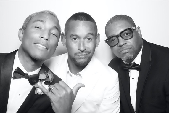 Pharrell, Mr Lee, Fam Lay at our friends wedding