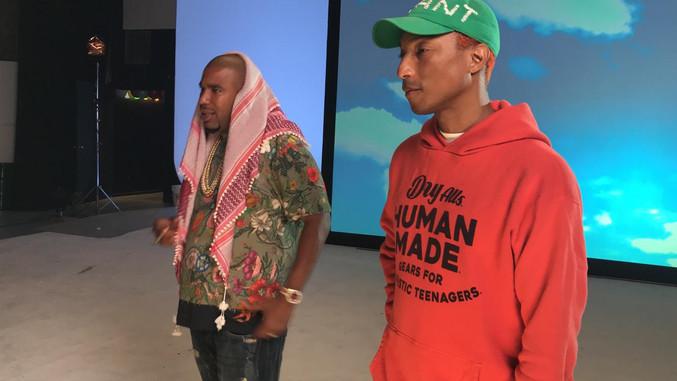 Pharrell & Noreaga at Nore's video shoot