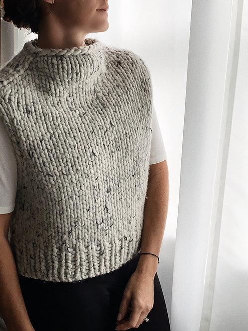 London Fog Slipover Knitting Pattern Top - Down