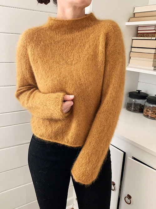 Mohair Gallant Sweater Knitting Pattern