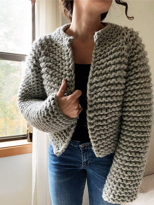 Beginner Friendly Top-Down Knitting Pattern The Harper Jacket
