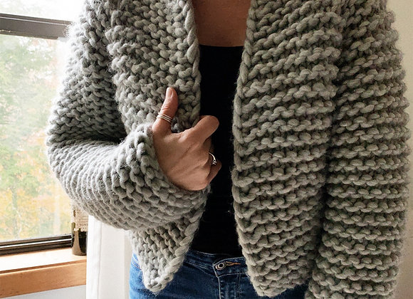 Beginner Friendly Top-Down Knitting Pattern The Harper Jacket