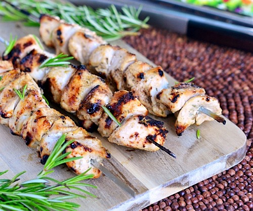 Rosemary Chicken Skewers