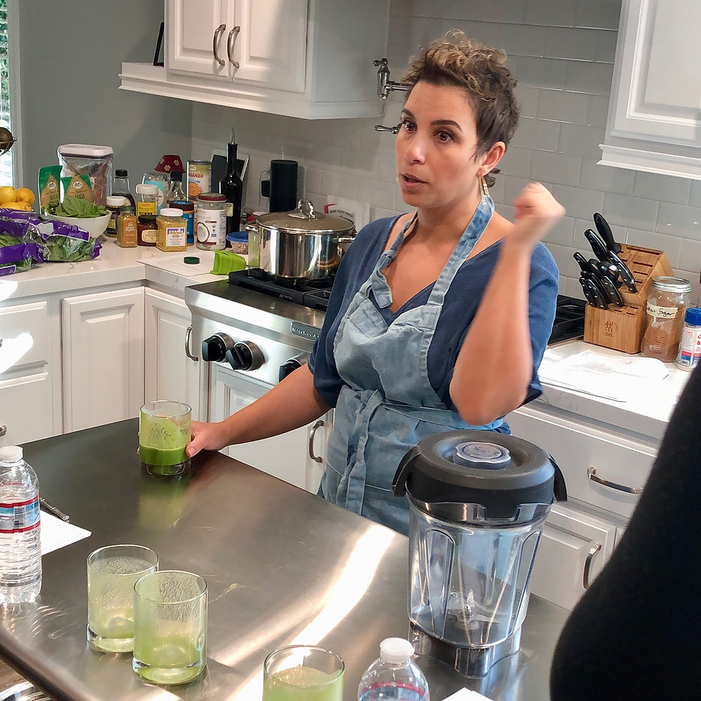 Me teaching how to make my Libido Boosting Green Smoothie in my very first Get Cooking to Get in the Mood cooking class