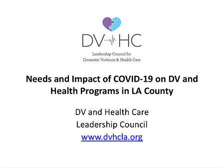 Impact of COVID-19 on DV and health prog
