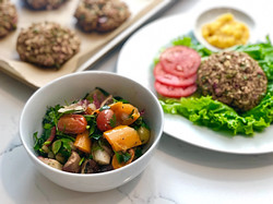 Vegan Burgers & Mediterranian Veg