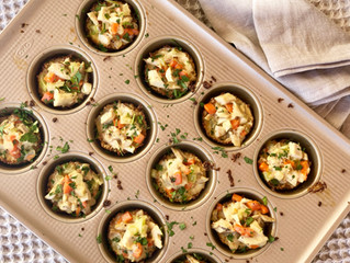 Mini Chicken Pot Pies (Gluten + Dairy Free)