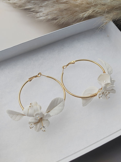 HALF BLOOM Hoop Earrings