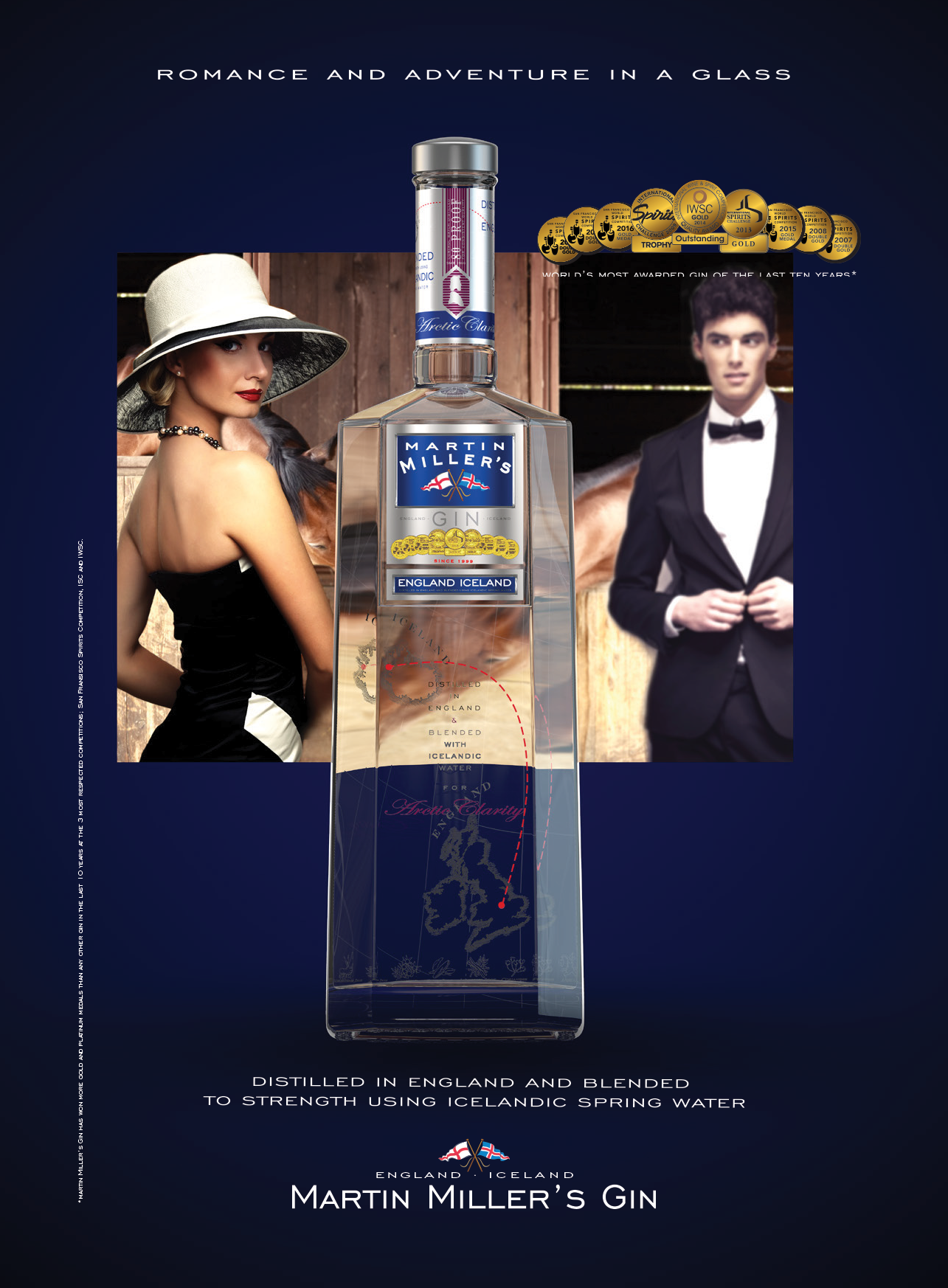 Gin festival brouchure advert No Marks