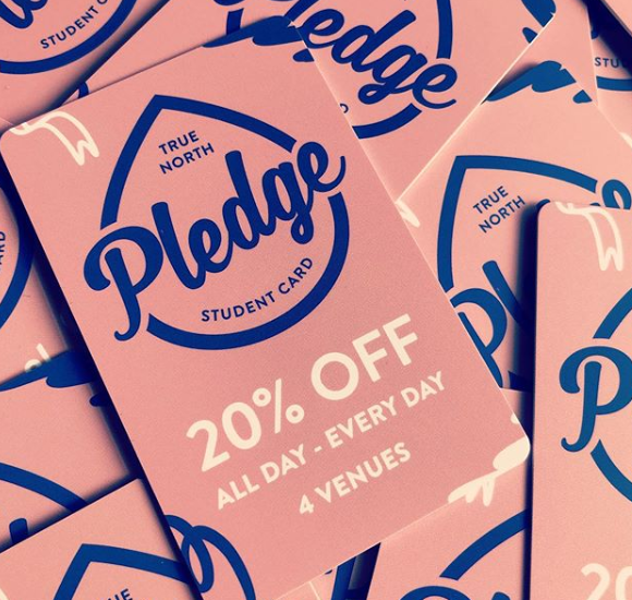 a pile of pledge cards - 20% off