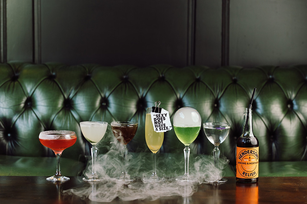a range of cocktails at the Old House