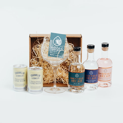 Sheffield Dry Gin 20cl Core Range Glass Set