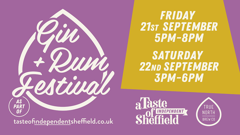 Banner image for the gin and rum festival as part of a taste independent sheffield