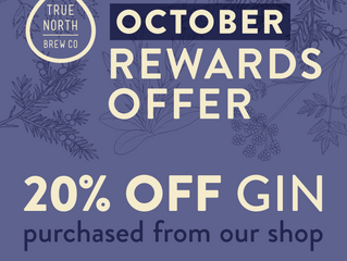 20% off gin Rewards offer!
