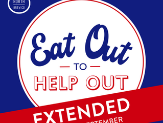Eat Out to Help Out: EXTENDED until 30th September!