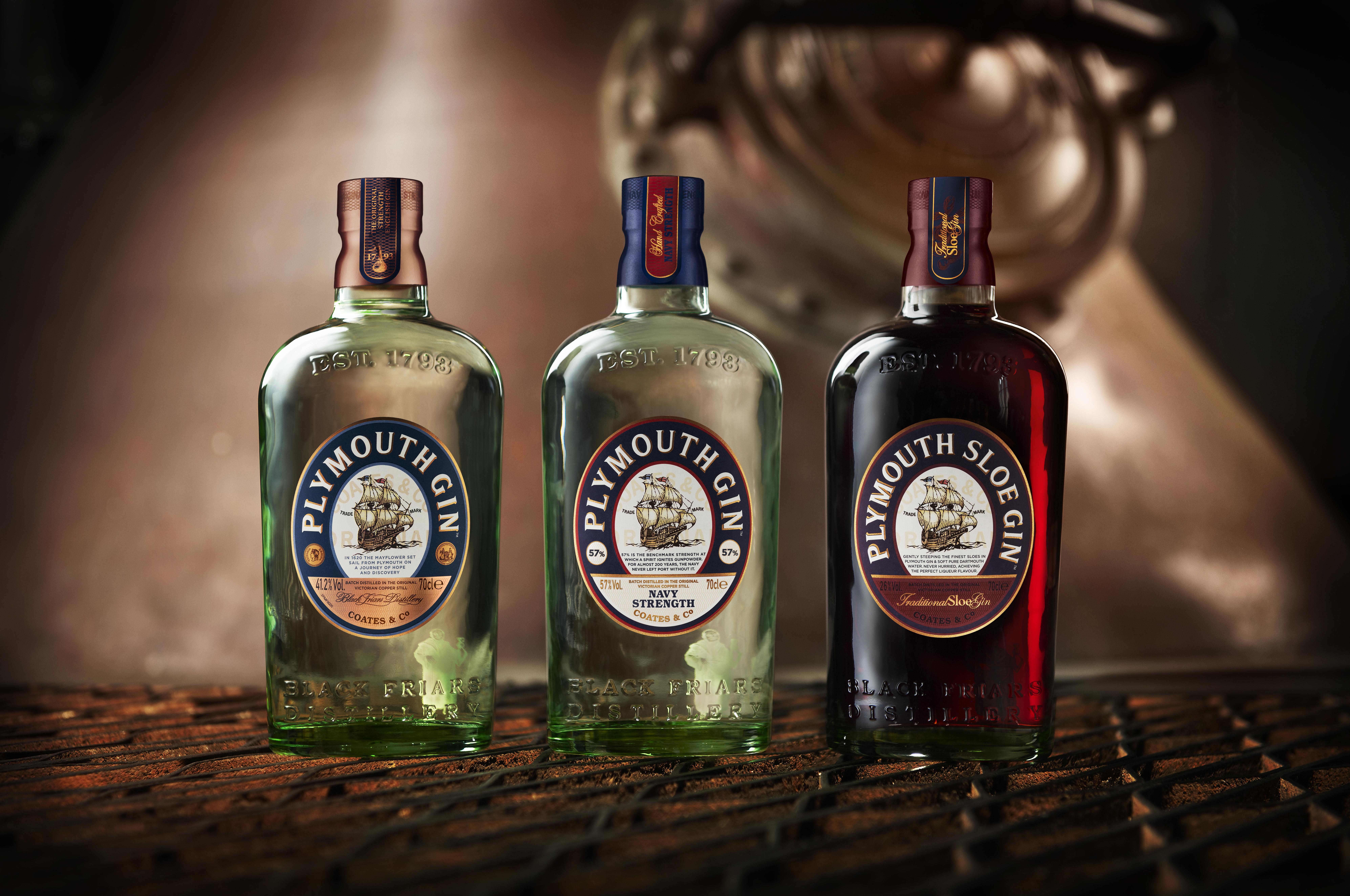 Plymouth Gin Bottles