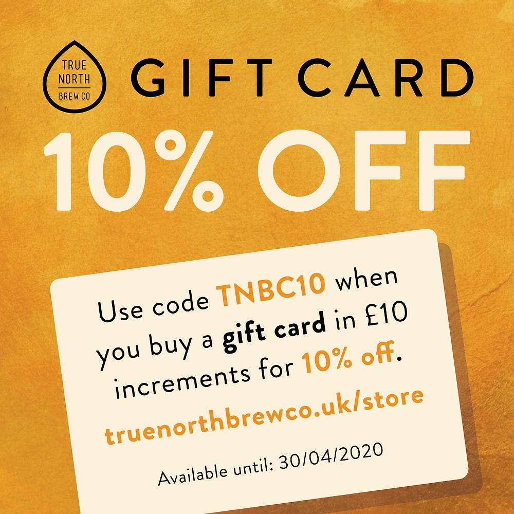 10% off True North gift cards using TNBC10