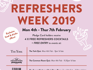 Don't miss out on freebies during Refreshers Week!