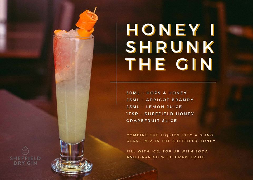 Honey I Shrunk the gin cocktail