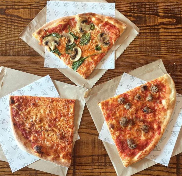 Pizza slices at Forum Kitchen + Bar, Sheffield
