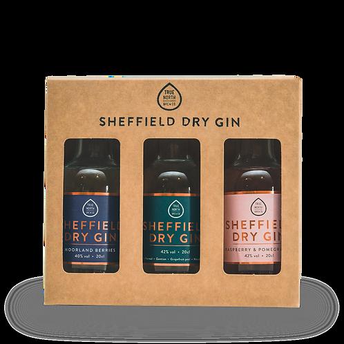 Sheffield Dry Gin 20cl Core Range Trio (3 x 20cl)
