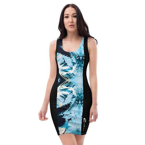 Blue Art Sublimation Cut & Sew Dress
