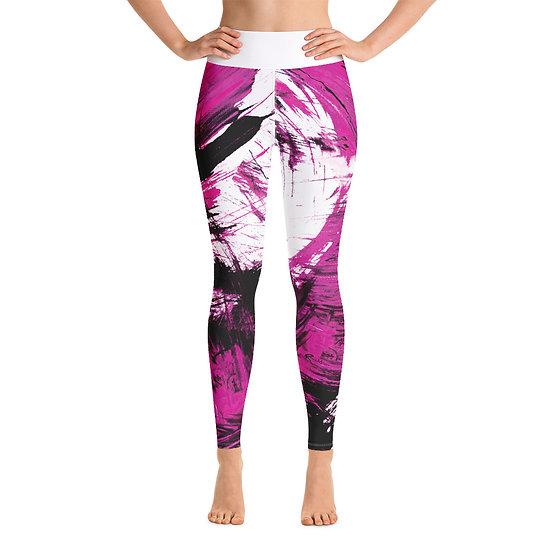 Magenta Fine Art Print Yoga Leggings