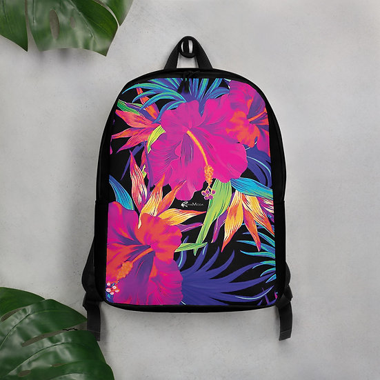 Bright Colored - Neon Floral Backpack