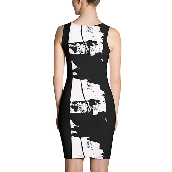 Black and White Modern Art Dress