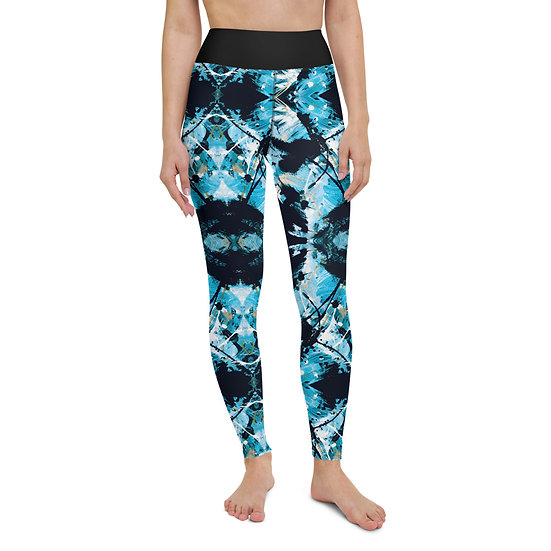 Blue Art Yoga Leggings