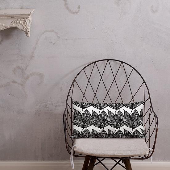 Black and White Art Deco Premium Pillow