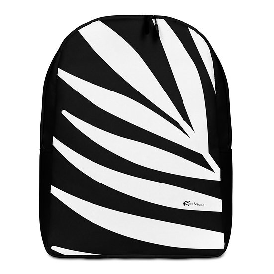 Black and White High Contrast Minimalist Backpack