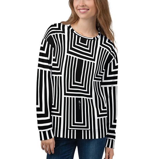 Black and White Geo Unisex Sweatshirt