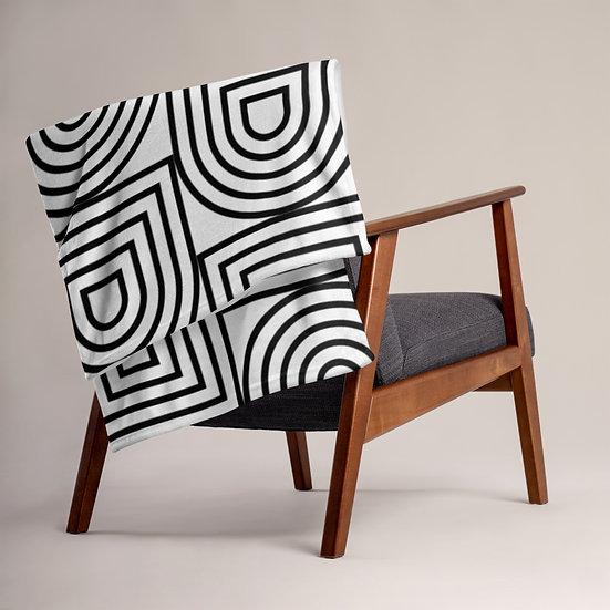 Black and White Geometric Throw Blanket