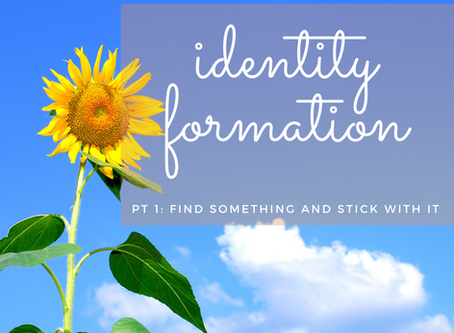 Identity Formation                               Pt 1: Find Something and Stick With It
