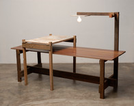 Bancada de Assoalho de Dez Telhado e Almofada de Porta (projeto realizado em parceria com a ,ovo) 230 x 80 x 160 cm