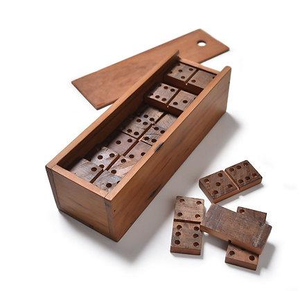 Jogo de dominó de peroba