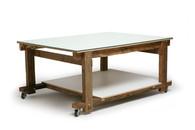 Mesa de Telhado com Vidro 180 x 130 x 80 cm