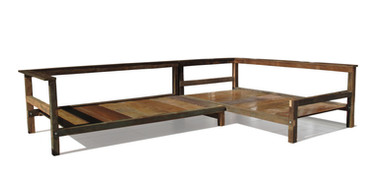 Estrutura para Sofá em Éle de Telhado e Assoalho 268 x 183 x 60 cm