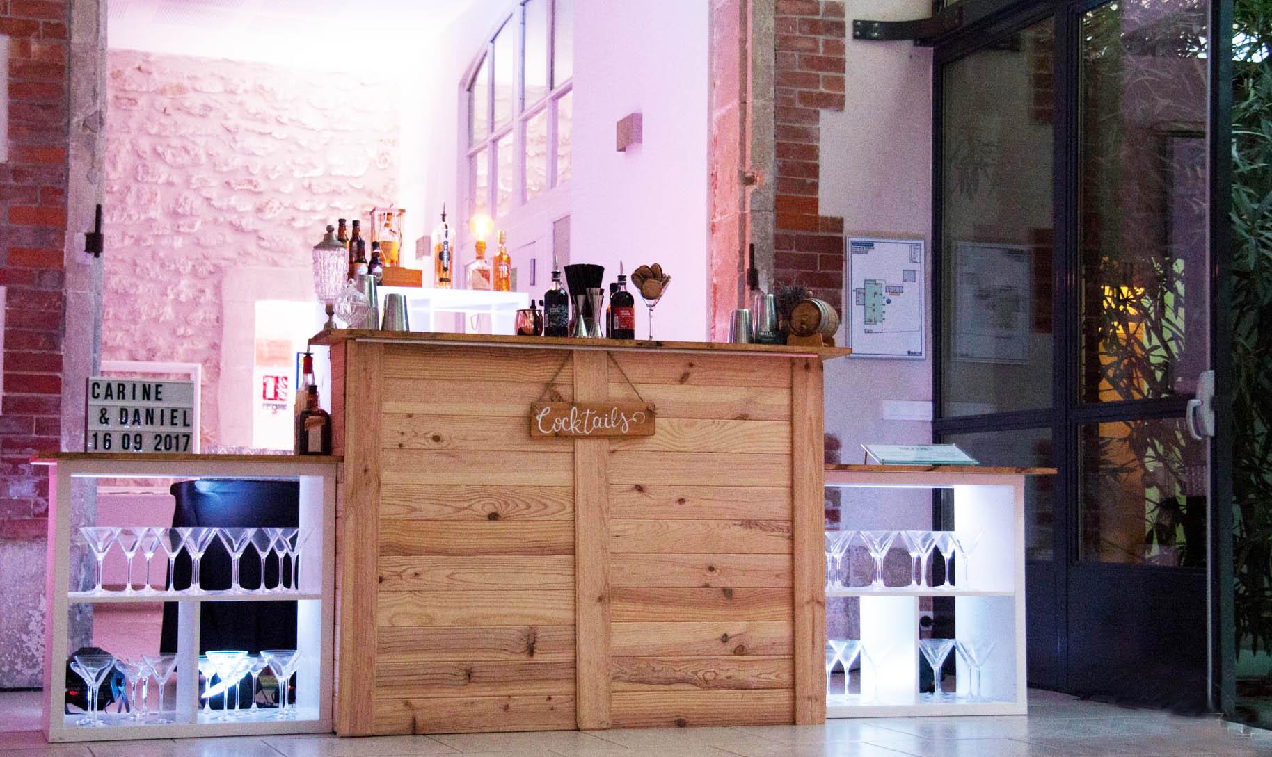 bar mobile bois