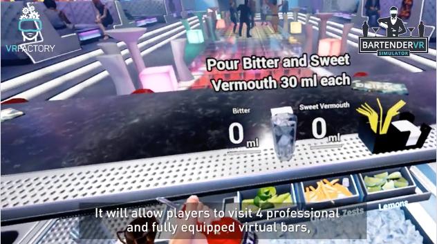 cocktail en réalité virtuelle