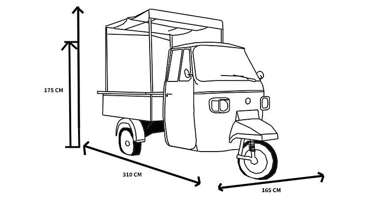 dimension food truck