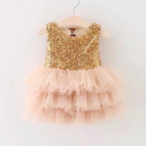 Gigi Gold Champagne Dress