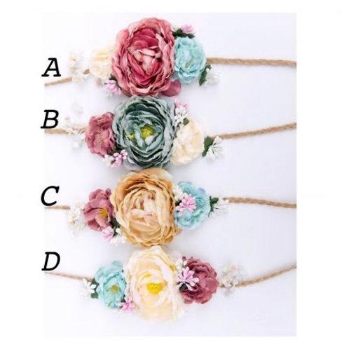 Floral Tie Back Crown