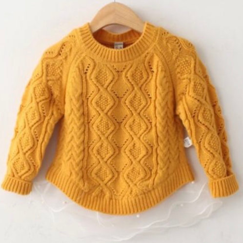 Mustard Tulle Sweater