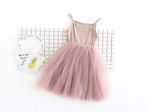Ribbed Tulle Dress