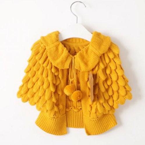 Mustard Sweater Cape