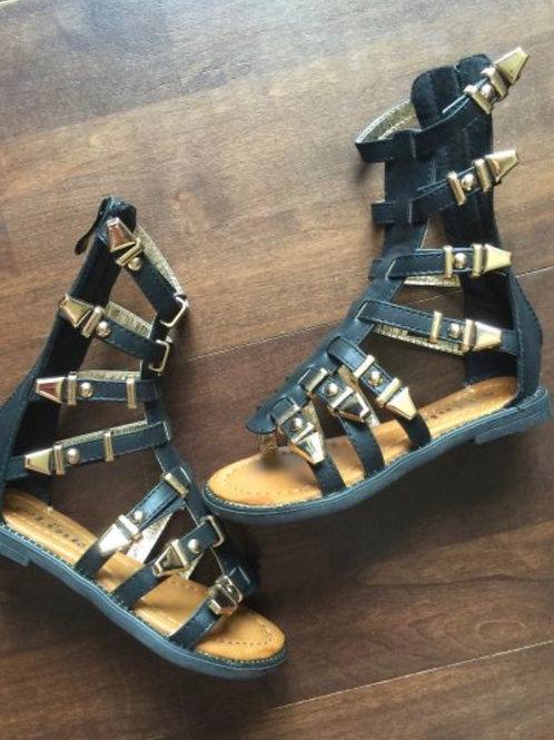 Katia Black Gladiator Sandals