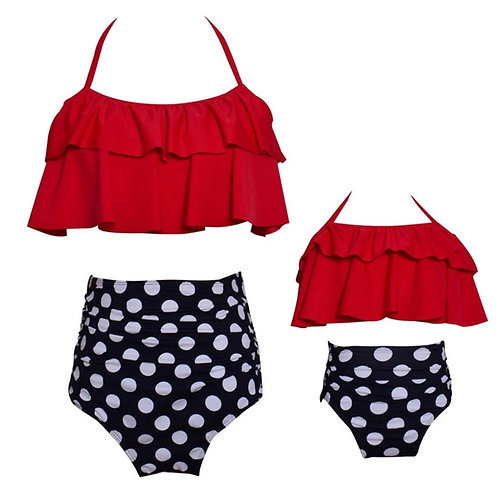 Mommy and Me Polkadot Swimsuit