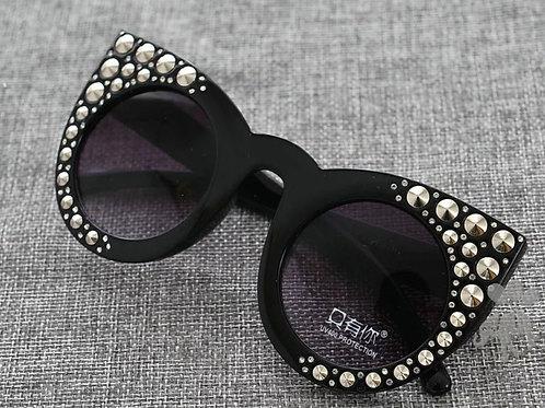 Cat Eye Stud Sunglasses